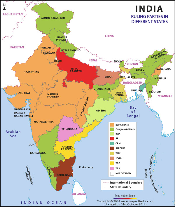 political-india-map